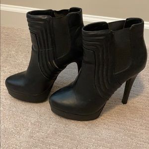 Chinese laundry leather ankle booties